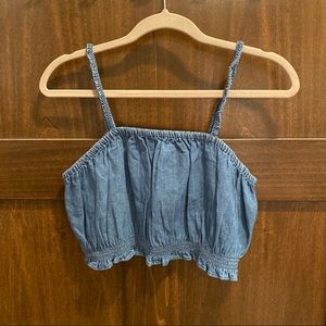 Denim Bralette Cropped Top